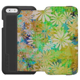 Vintage Green Cream Abstract Incipio Watson™ iPhone 6 Wallet Case