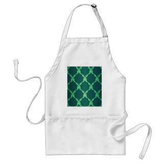 vintage green damask floral elegant chic pattern aprons