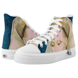 Vintage Green-Eyed Beauty: Portrait of a Lady High Tops