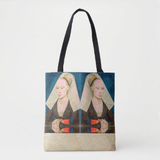 Vintage Green-Eyed Beauty: Portrait of a Lady Tote Bag