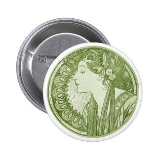 Vintage Green Fine Art Buttons