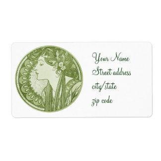 Vintage Green Fine Art Shipping Label