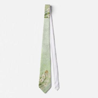 Vintage Green Floral Neck Tie