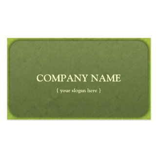 Vintage Green Grudge Business Cards