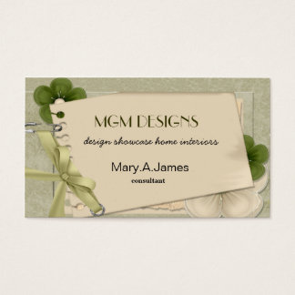 vintage green lime  Business Cards
