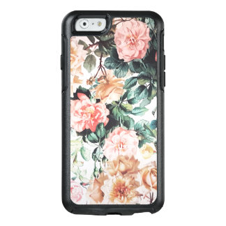Vintage green pink yellow watercolor roses floral. OtterBox iPhone 6/6s case