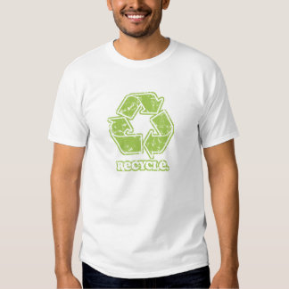Vintage Green Recycle Sign T-shirts
