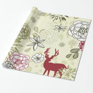 Vintage Green/Red Deer Pattern