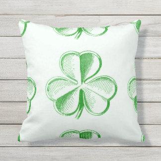 Vintage Green Shamrock Cushion