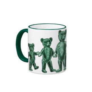 Vintage Green Teddy Bears Mug