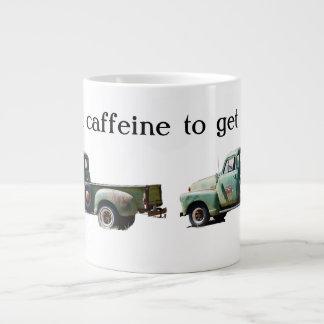 Vintage Green Truck Caffeine Fuel Large Coffee Mug