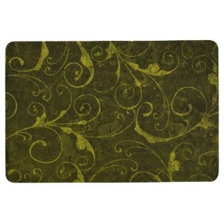 Vintage Green Wallpaper Floor Mat