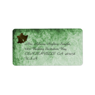 Vintage Green Wedding Address Labels