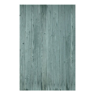 Vintage Green Wood Pattern Customized Stationery