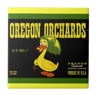 Vintage Green Yellow Advertising Tile Kitchen Duck
