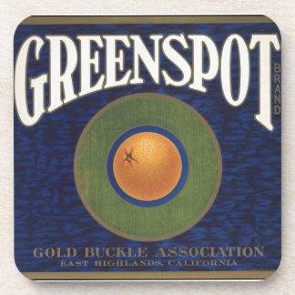 Vintage Greenspot Oranges Advertisement Beverage Coasters