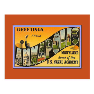 Vintage Greetings from Annapolis MD Postcard