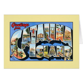 Vintage greetings from Catalina Island California Card
