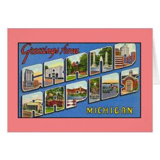 Vintage greetings from Grand Rapids MI Card
