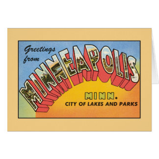 Vintage greetings from Minneapolis Minnesota Card