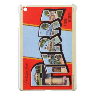 Vintage Greetings From Pierre, SD Letter Postcard Case For The iPad Mini
