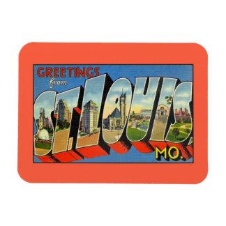 Vintage greetings from Saint Louis MO Rectangular Magnets