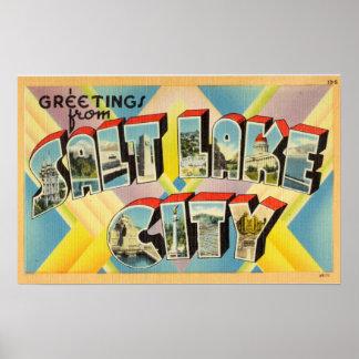 Vintage Greetings From Salt Lake City Utah Poster