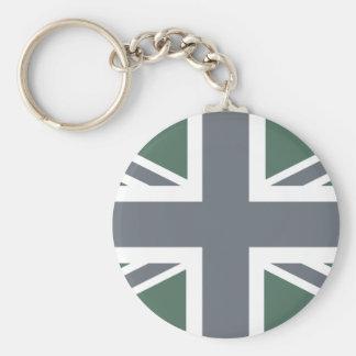 Vintage Grey Classic Union Jack British(UK) Flag Key Chain