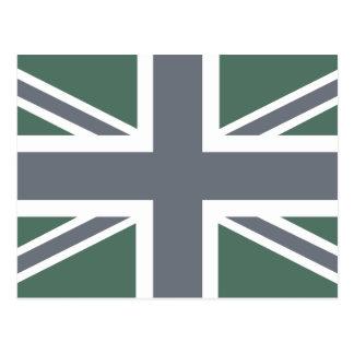 Vintage Grey Classic Union Jack British(UK) Flag Postcard