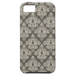 Vintage Grey Damask iPhone 5 Covers