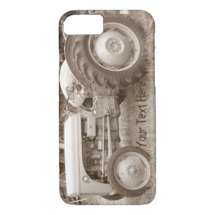 Vintage Grey massey fergison tractor photo sepia Case-Mate iPhone Case