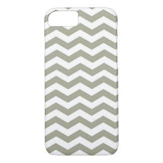 Vintage Grey White Chevron. Zigzag Pattern iPhone 7 Case