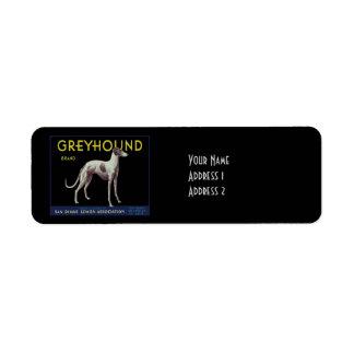Vintage Greyhound Dog Lemon Label Circa 1920 Return Address Label