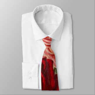 Vintage Group of Pink White and Red Roses Tie