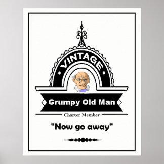 Vintage Grumpy Old Man Fun Birthday Poster