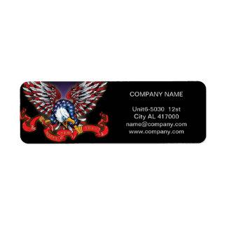 vintage grunge american eagle Construction Return Address Label
