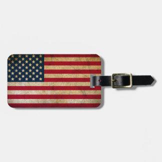 Vintage Grunge American Flag Bag Tag