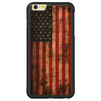 Vintage Grunge American Flag Carved® Cherry iPhone 6 Plus Bumper Case