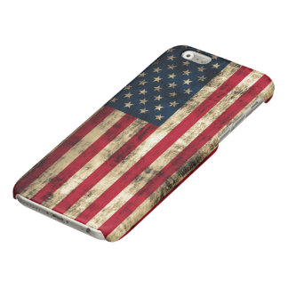 Vintage Grunge American Flag Glossy iPhone 6 Case