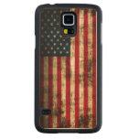 Vintage Grunge American Flag Maple Galaxy S5 Case