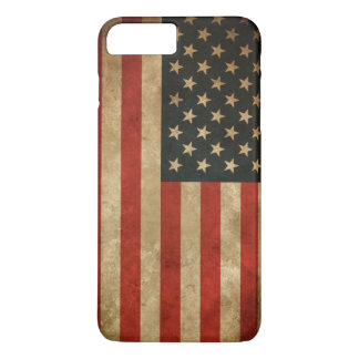 Vintage Grunge American Flag - USA Patriotic iPhone 8 Plus/7 Plus Case