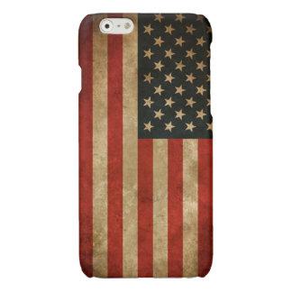 Vintage Grunge American Flag - USA Patriotic Glossy iPhone 6 Case