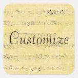 Vintage Grunge Antique Musical Notes