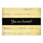 Vintage Grunge Antique Musical Notes Invitations 13 Cm X 18 Cm Invitation Card