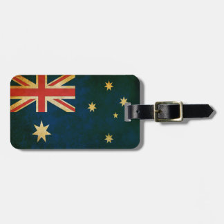Vintage Grunge Australia Flag Luggage Tag