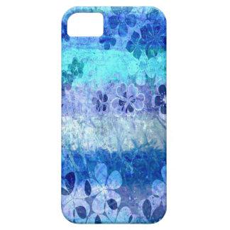 Vintage grunge blue floral pattern 3 iPhone 5 cases