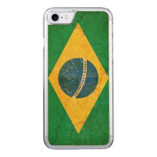 Vintage Grunge Brazil Flag Carved iPhone 7 Case