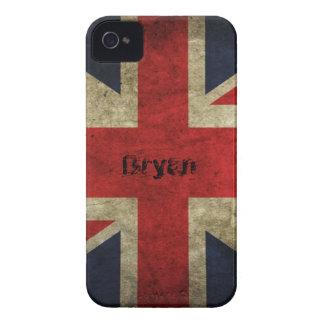 Vintage Grunge British Flag Case-Mate iPhone 4 Cases