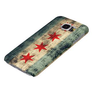 Vintage Grunge Chicago Flag