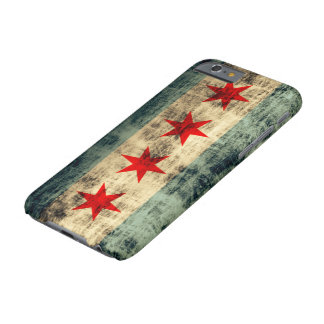 Vintage Grunge Chicago Flag Barely There iPhone 6 Case